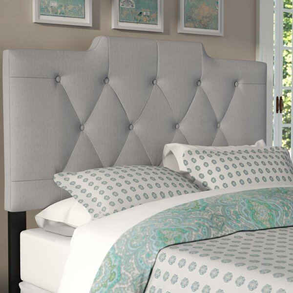 Upholstered Panel Headboard by Three Posts