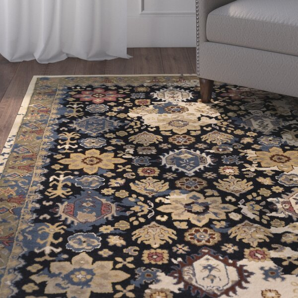 Ivan Hand-Tufted Black Area Rug by Charlton Home