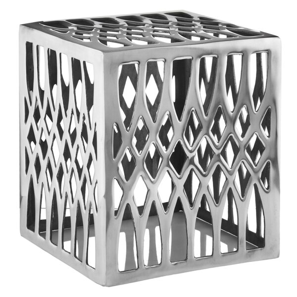 Aluminum Basilica Stool by Modern Day Accents