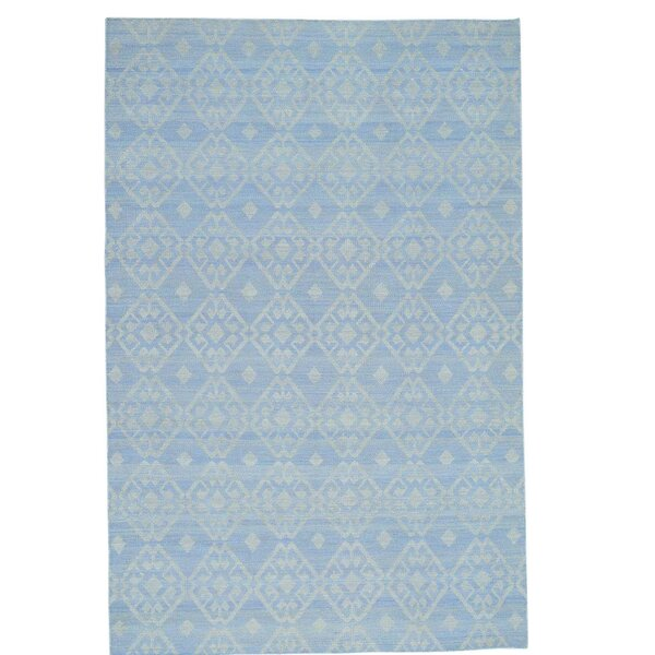 Reversible Durie Kilim Flat Weave Oriental Hand-Knotted Ivory Area Rug by Bloomsbury Market