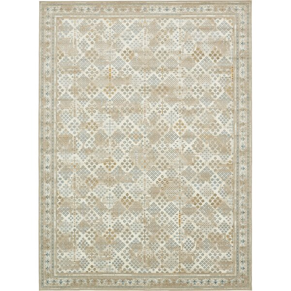 Hurst Beige Area Rug by World Menagerie
