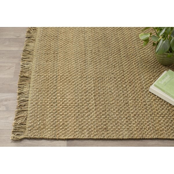 Pineda Hand Woven Beige Area Rug by World Menagerie
