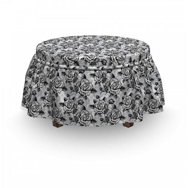 Romantic Soulful 2 Piece Box Cushion Ottoman Slipcover Set By East Urban Home