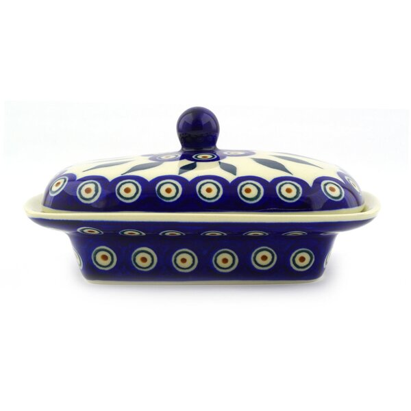 Peacock Butter Dish by Polmedia