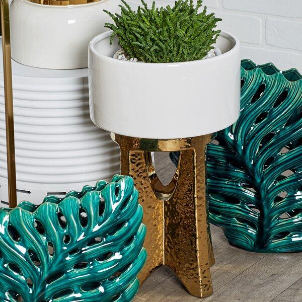 Lanora Modern Round Table Vase with Base by Rosdorf Park