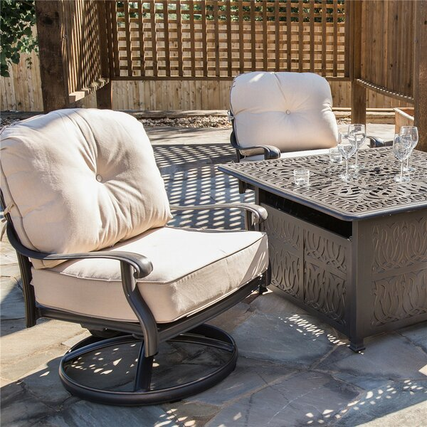 Bean Club Patio Chair with Cushion by Fleur De Lis Living