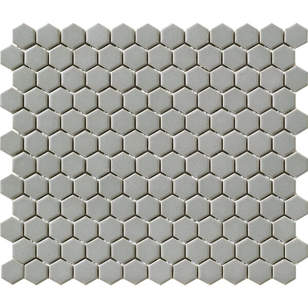 Vintage 0.88 x 0.88 Porcelain Mosaic Tile in Gray by Walkon Tile