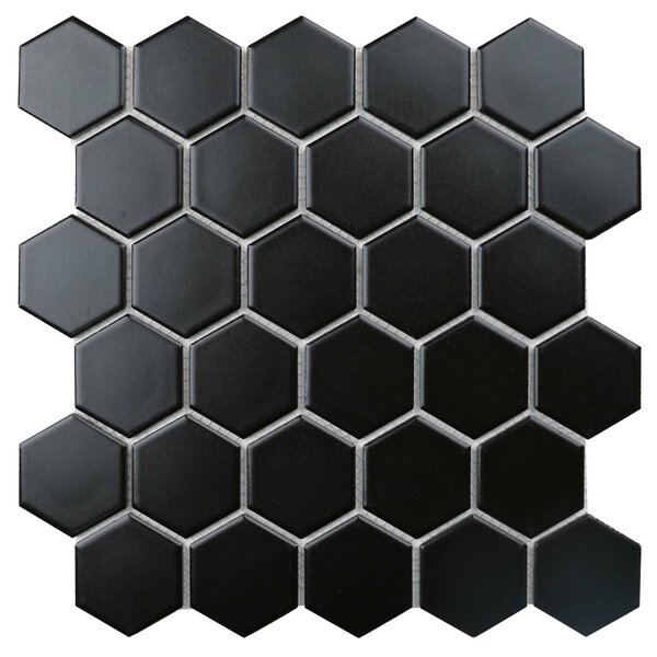 Value Series 2 X 2 Porcelain Mosaic Tile In Matte Black By Ws Tiles.