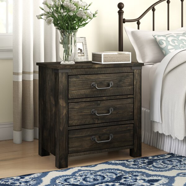 Calila 3 Drawer Nightstand by Foundry Select