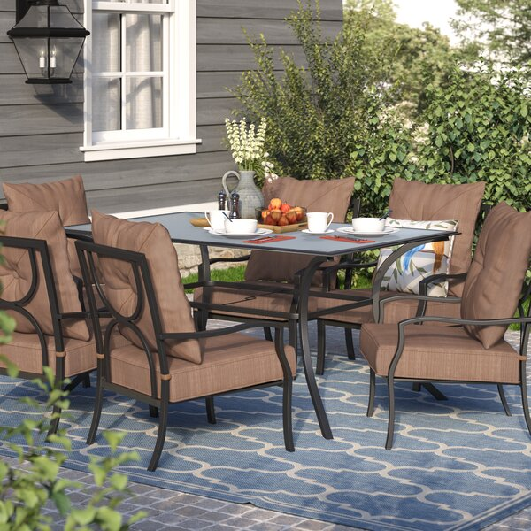 Keensburg 7 Piece Dining Set with Cushions by Andover Mills