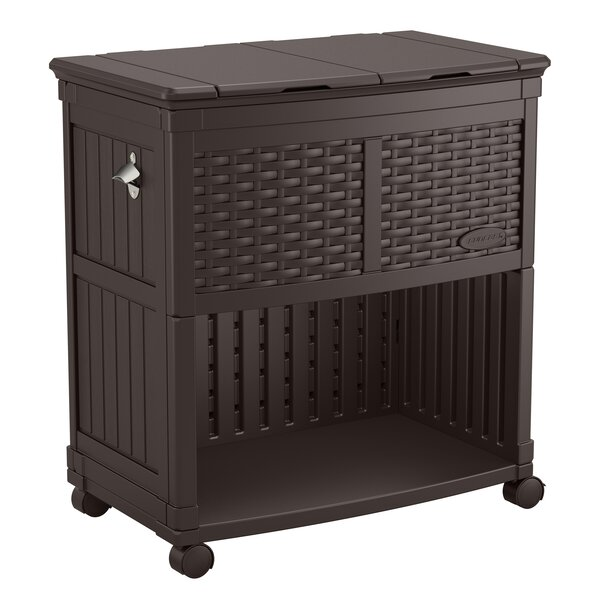 85 Qt. Cooler with 4 Rolling Casters by Suncast