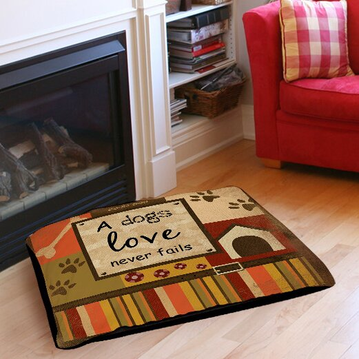 Love Never Fails Indoor/Outdoor Pet Bed by Manual Woodworkers & Weavers