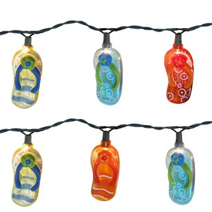 Reviews Beach Sandal Flops 10 Light Novelty String Light By The Holiday Aisle