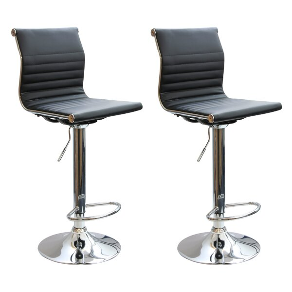 Southampton Adjustable Height Swivel Bar Stool (Set of 2) by Latitude Run