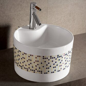Isabella Ceramic Circular Vessel Bathroom Sink by Whitehaus Collection