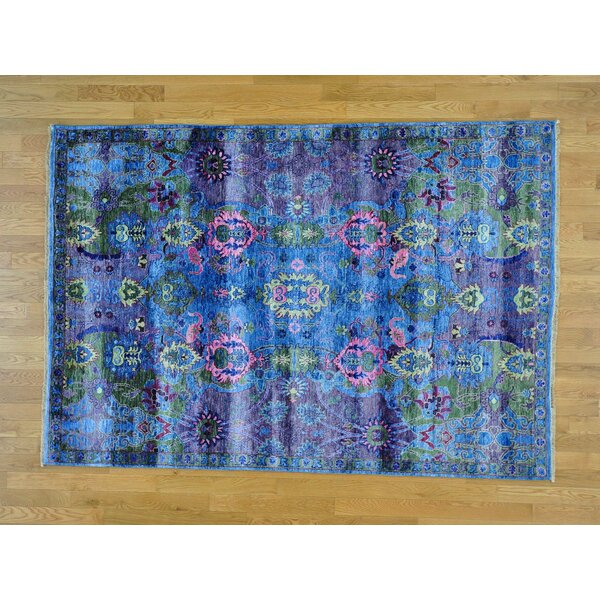 One-of-a-Kind Chaumont Art Hand-Knotted Silk Area Rug by Isabelline
