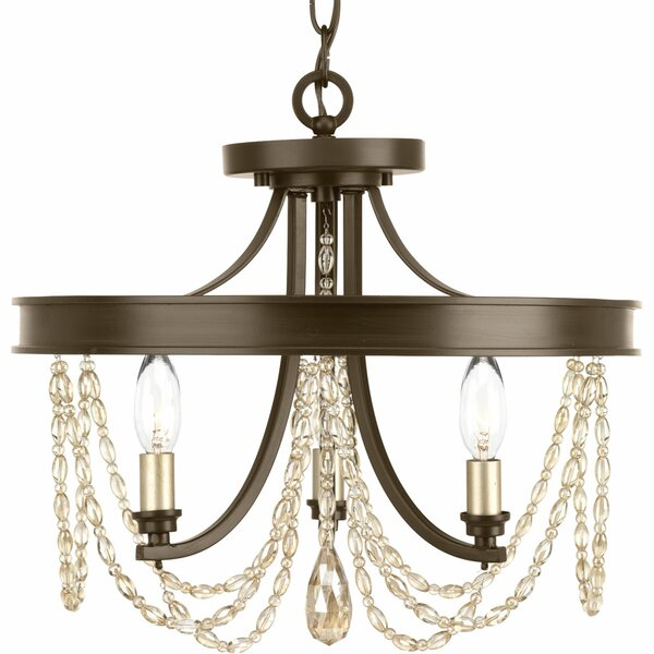 Genevieve 3 - Light Candle Style Empire Chandelier By Alcott Hill