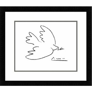 The Dove of Peace by Pablo Picasso Framed Painting Print by Red Barrel Studio