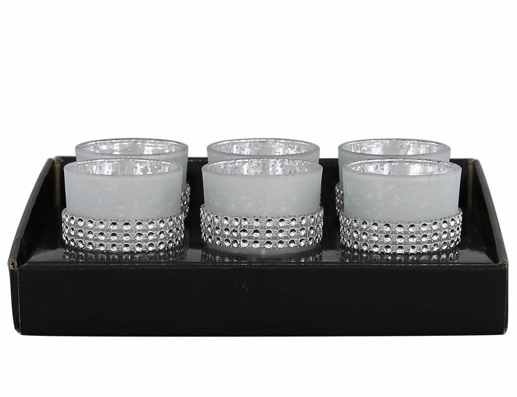 rosdorf park 7 tlg teelichthalter set ramsey aus glas. Black Bedroom Furniture Sets. Home Design Ideas