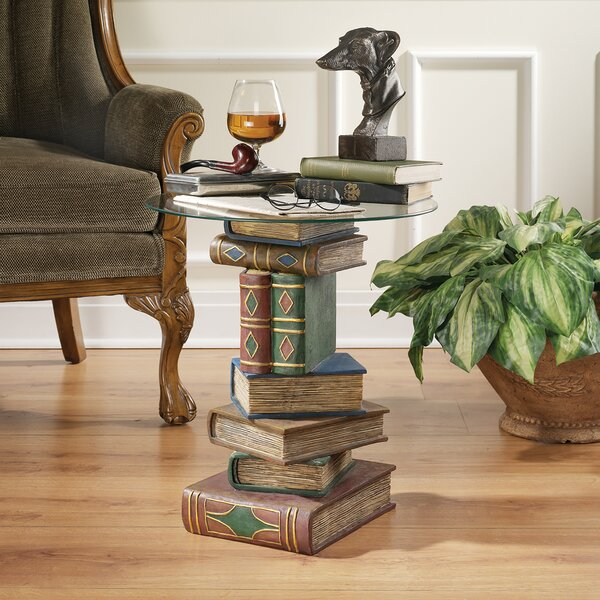 Stacked Volumes Sculptural End Table by Design Toscano