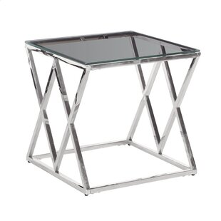 Clearview Metal/Glass Diamond Coffee Table