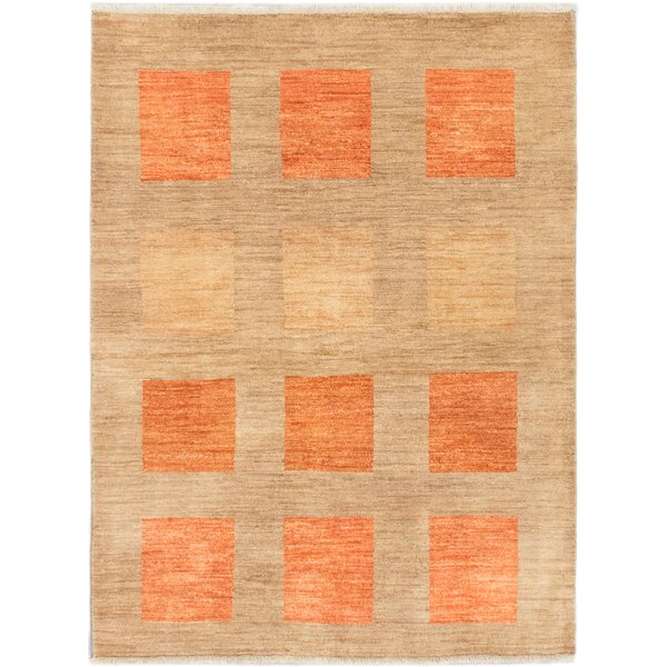 One-of-a-Kind Kadyn Hand-Knotted Ivory Area Rug by World Menagerie