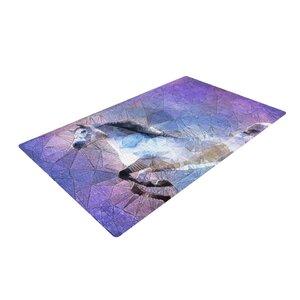 Ancello Abstract Horse Purple/Blue Area Rug