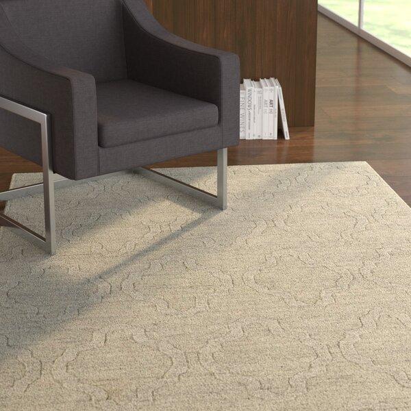 Dobson Oatmeal Geometric Area Rug by Ebern Designs