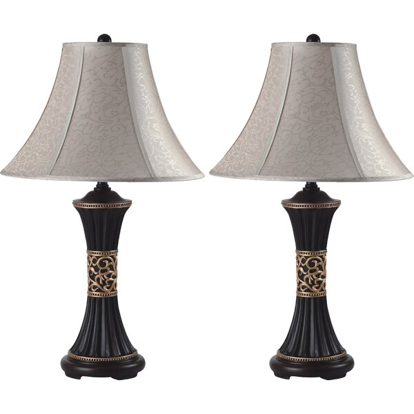 Artistic Floral 28 Table Lamp (Set of 2) by Sintechno