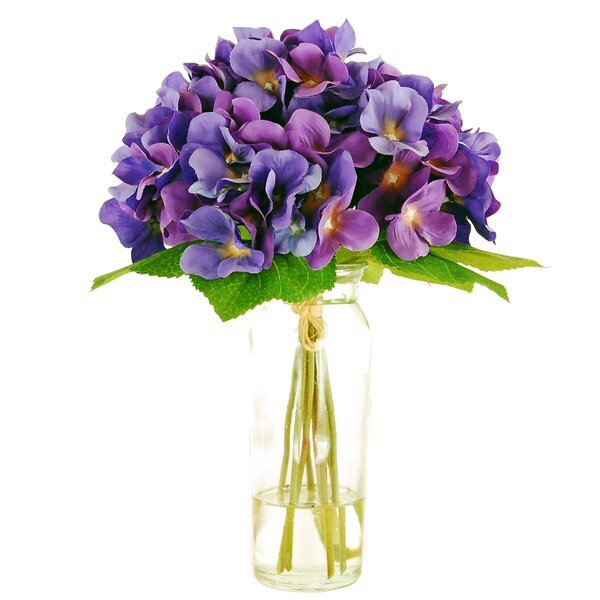 Hydrangea in a Jar with Faux Water by LCG Florals