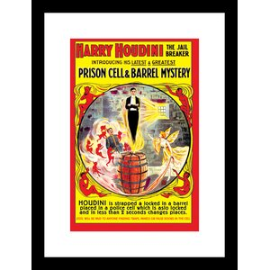 The Jail Breaker by Harry Houdini Framed Vintage Advertisement by Buyenlarge