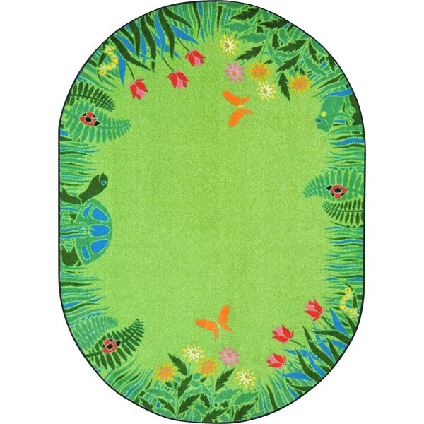 Alpes Merry Meadows Green Area Rug by Zoomie Kids
