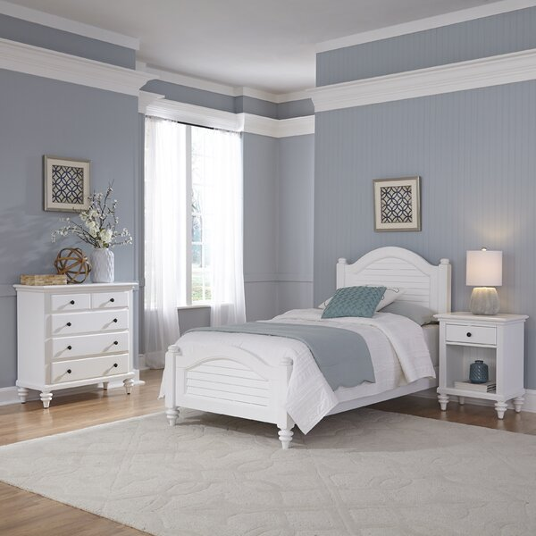 Sitz Traditional Twin Panel 3 Piece Bedroom Set by Harriet Bee