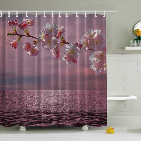Ocean Print Shower Curtain by Ambesonne
