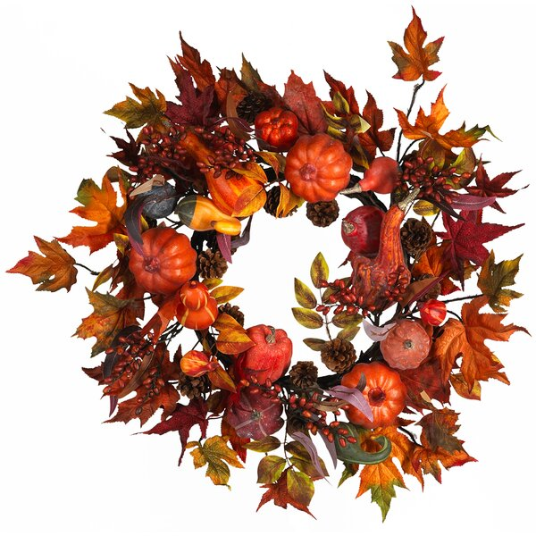 Harvest Wreath by Nearly Natural