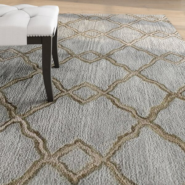 Higby Hand-Tufted Slate Area Rug by Alcott Hill