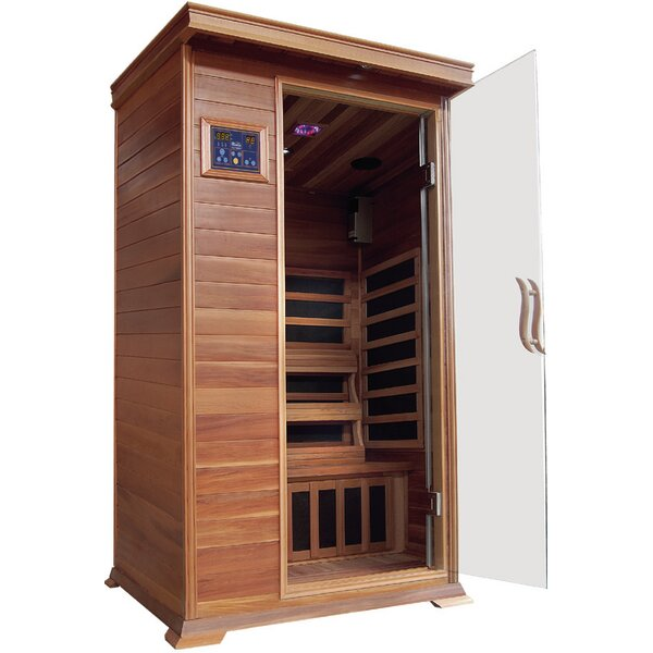 Sedona Luxury 1 Person FAR Infrared Sauna by SunRay Saunas