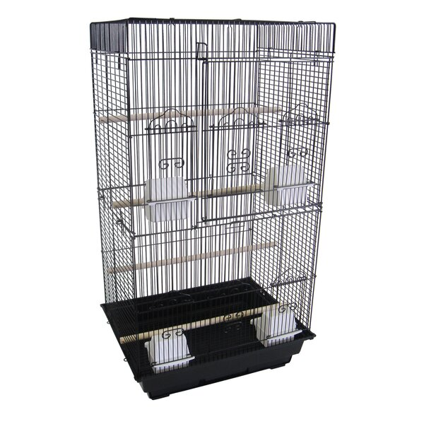Tall Flat Square  Bird Cage by YML