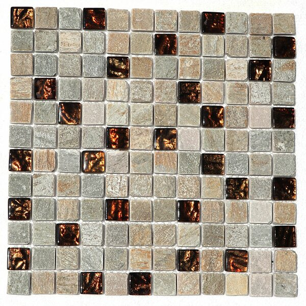 Paragon 12 x 12 Glass Mosaic Tile in Butterscoth by Kellani