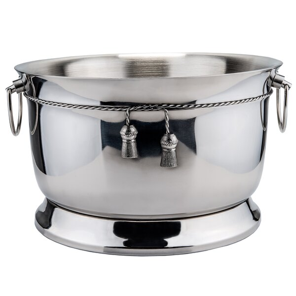 17 Qt. Stainless Steel Double Walled Party Tub with Tie Knot by Old Dutch International