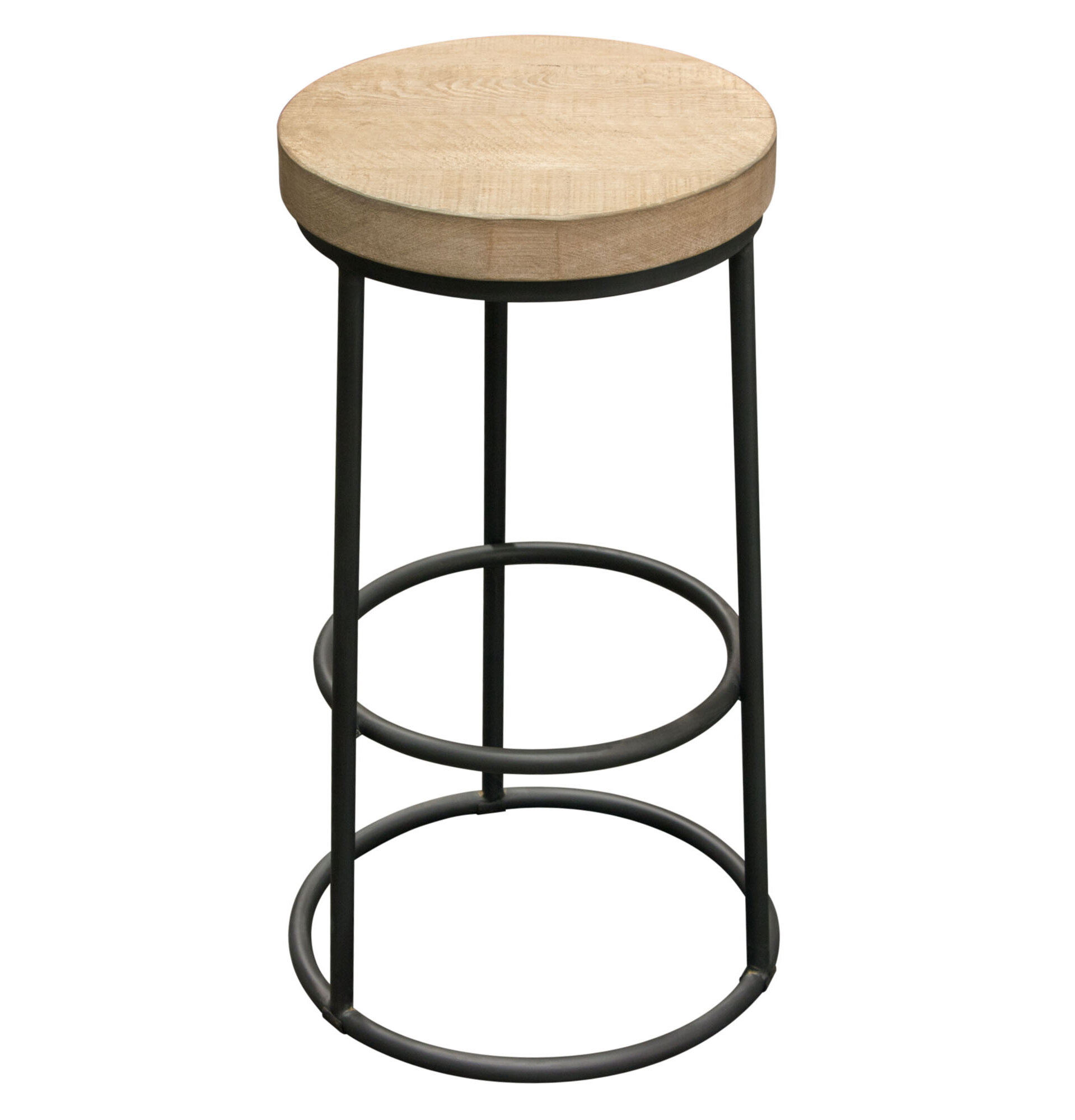 Cool Cooper Round Backless 30 Bar Stool Pabps2019 Chair Design Images Pabps2019Com