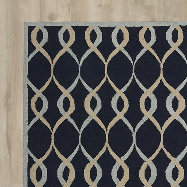 LaGuardia Hand-Tufted Navy Area Rug by Wrought Studio