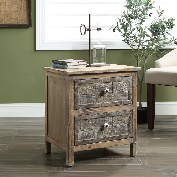 Barth End Table with Storage by August Grove