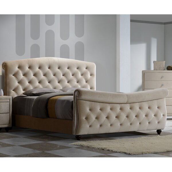 Sweeney Upholstered Sleigh Bed by Rosdorf Park