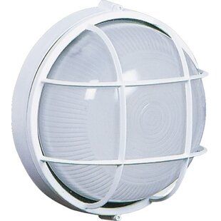 Bulkhead light outdoor wall lighting youll love wayfair munson 1 light outdoor bulkhead light aloadofball Images