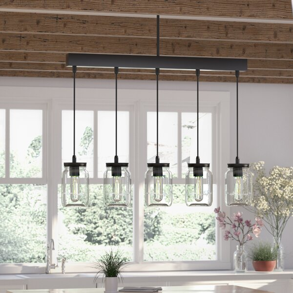 Vickie 5-Light Kitchen Island Pendant by August Gr