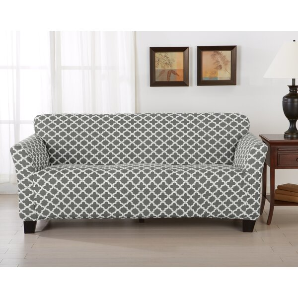 Brenna Box Cushion Sofa Slipcover by Home Fashion Designs