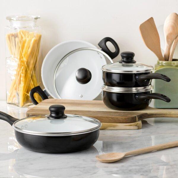 Wayfair Basics 8 Piece Nonstick Ceramic Cookware Set by Wayfair Basics™