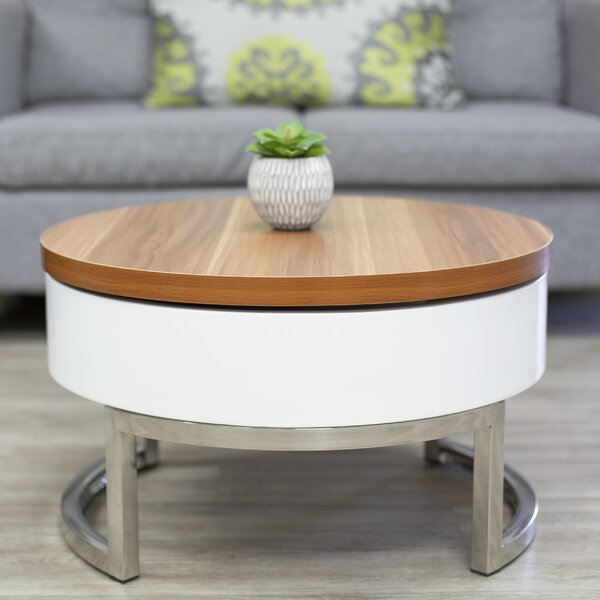 Luiza Sled Coffee Table with Storage by Wrought Studio Wrought Studio