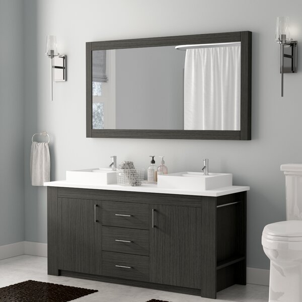 Glen Ridge 60 Double Bathroom Vanity Set with Mirror by Wade Logan